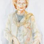 Zsusa Demeter: Kaarina Suonio, 2009. Akvarelli ja pastelli paperille. Koko: 74x55 cm.