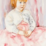 Zsusa Demeter: Laura, 2010. Akvarelli ja pastelli paperille. Koko: 63x47.