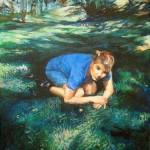 Julia Prusi: Johanna, 2008. Akryyli kankaalle. Koko: 27 x 22 cm.