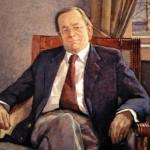 Tatsuo Hoshida: Psykiatrian professori Pekka Niskanen, 1999. Öljy kankaalle. Koko: 85 x 68 cm.